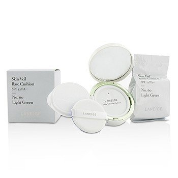 Laneige Skin Veil Base Cushion SPF 22 - #No. 60 Light Green  2x15g/0.5oz