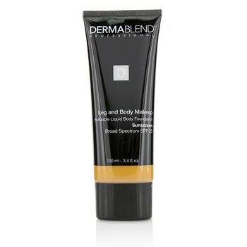 Dermablend Leg and Body Make Up Buildable Liquid Body Foundation Sunscreen Broad Spectrum SPF 25 - #Tan Honey 45W  100ml/3.4oz