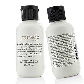 Philosophy Miracle Worker Miraculous Limpiador & Mascarilla Anti-Envejecimiento de Ácido Láctico Duo Pack (Tamaño Viaje)  2x60ml/2oz