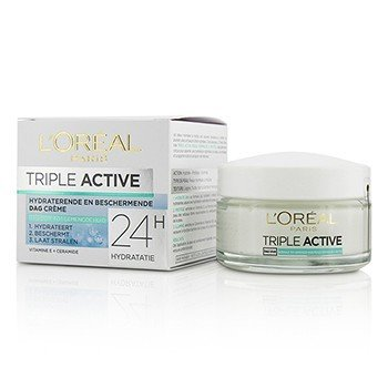 L'Oreal Triple Active Multi-Protective Day Cream 24H Hydration - For Normal/ Combination Skin  50ml/1.7oz