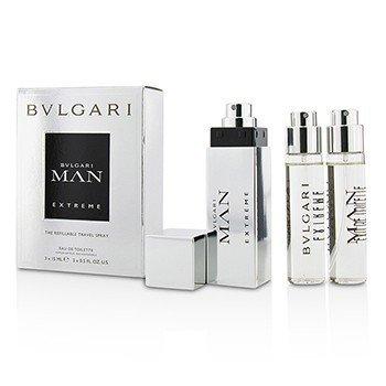 Bvlgari Man Extreme The Refillable Eau De Toilette Travel Spray  3x15ml/0.5oz