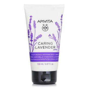 Apivita Caring Lavender Moisturizing & Soothing Body Cream - For Sensitive Skin  150ml/4.74oz