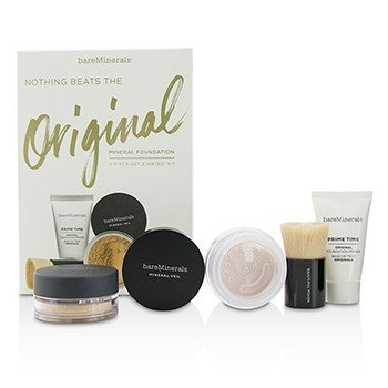 BareMinerals Get Started Mineral Foundation Kit - # 12 Medium Beige  4pcs