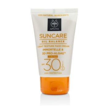 Apivita Suncare Oil Balance Crema Facial Textura Ligera SPF 30 -Con Tinte-  50ml