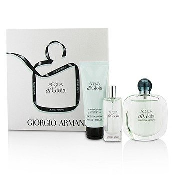 ジョルジオアルマーニ Acqua Di Gioia Coffret: Eau De Parfum Spray 50ml/1.7oz + Eau De Parfum Spray 15ml/0.5oz + Body Lotion 75ml/2.5oz  3pcs