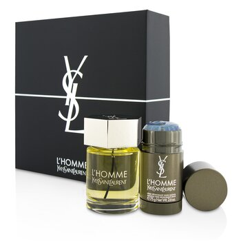Yves Saint Laurent L'Homme Coffret: Eau De Toilette Spray 100ml/3.3oz + Desodorante en Barra 75g/2.6oz  2pcs