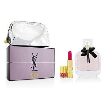 Yves Saint Laurent Mon Paris Coffret: Eau De Parfum Spray 90ml/3oz + Mini Lipstick + Pouch  2pcs+pouch