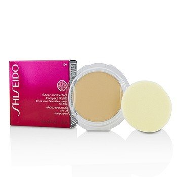 Shiseido Sheer & Perfect Compact Foundation SPF 21 (Refill) - # I00 Very Light Ivory  10g/0.35oz