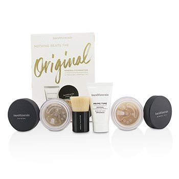 BareMinerals Get Started Mineral Foundation Kit - # 18 Medium Tan  4pcs