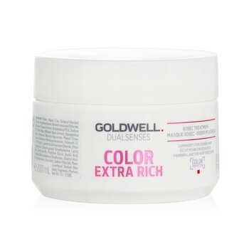 Goldwell Dual Senses Color Tratamiento de 60Seg Extra Rico (Luminosidad Para Cabello Áspero)  200ml/6.7oz