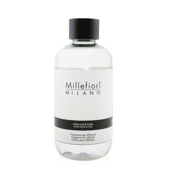 Millefiori معطر جو طبيعي (عبوة احتياطية) - النعناع الأبيض والتونكا  250ml/8.45oz