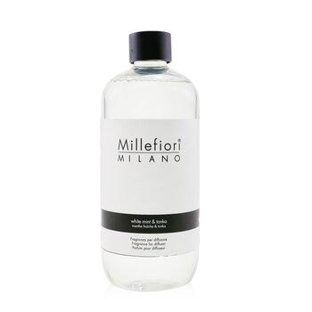 Millefiori معطر جو طبيعي (عبوة احتياطية) - النعناع الأبيض والتونكا  500ml/16.9oz