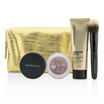 BareMinerals Take Me With You Complexion Rescue Try Me Set - # 02 Vanilla  3pcs+1bag
