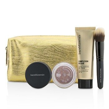 ベアミネラル Take Me With You Complexion Rescue Try Me Set - # 05 Natural  3pcs+1bag