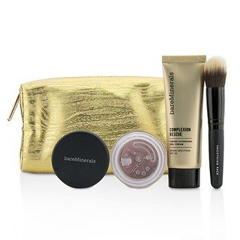 BareMinerals Set Take Me With You Complexion Rescue Try Me - # 09 Chestnut  3pcs+1bag
