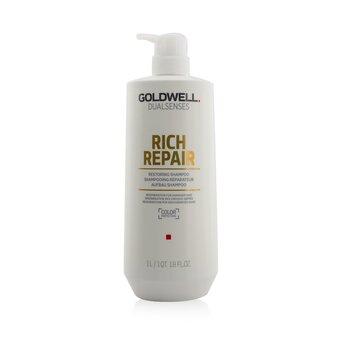 Goldwell Dual Senses Rich Repair Restoring Shampoo (Regeneration For Damaged Hair)  1000ml/33.8oz