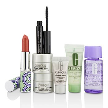 クリニーク Bonus Travel Set: M/U Remover + Facial Soap + Repair Serum + 2x Moisturizer + Mascara + Lip Color  7pcs