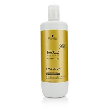 Schwarzkopf Szampon do włosów BC Excellium Q10+ Omega 3 Taming Shampoo (For Coarse Mature Hair)  1000ml/33.8oz