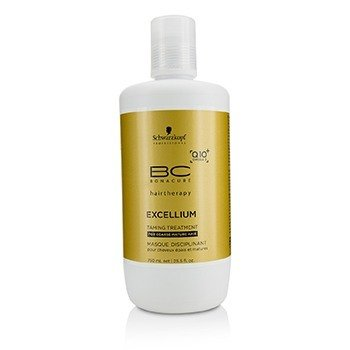 Schwarzkopf BC Excellium Q10+ Omega 3 Taming Treatment (For Coarse Mature Hair)  750ml/25.5oz
