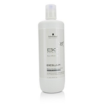 Schwarzkopf BC Excellium Q10+ Pearl Beautifying Shampoo (For Silver and White Hair)  1000ml/33.8oz