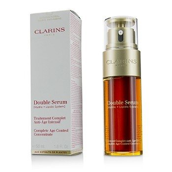 Clarins Double Serum (Hydric + Lipidic System) Complete Age Control Concentrate (Box Slightly Damaged)  50ml/1.6oz
