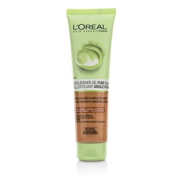 L'Oreal Skin Expert Pure-Clay Cleanser - Exfoliate & Refine  150ml/5oz