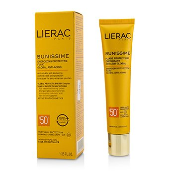 Lierac Sunissime Global Anti-Aging Energizing Protective Fluid SPF50+ For Face & Decollete  40ml/1.35oz