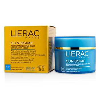 Lierac Sunissime Global Anti-Aging Rehydrating Repair Balm For Face & Decollete  40ml/1.38oz