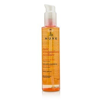 Nuxe Huile Demaquillante Micellaire Micellar Cleansing Oil With Rose Petal For Face & Eyes (Sensitive Skin)  150ml/5oz