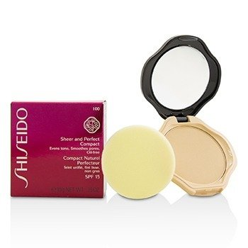 Shiseido Sheer & Perfect Compact Foundation SPF15 - #I00 Very Light Ivory  10g/0.35oz