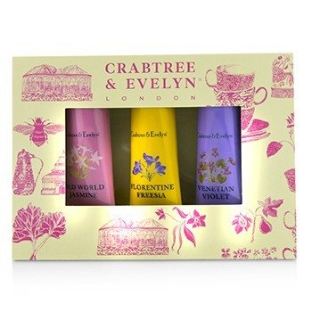 Crabtree & Evelyn Heritage Hand Therapy Набор для Рук (1x Old World Jasmine, 1x Florentine Freesia, 1x Venitian Violet)  3x25g/0.9oz