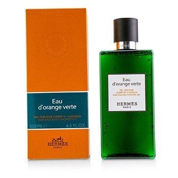 爱马仕  D'Orange Verte Hair And Body Shower Gel  200ml/6.5oz