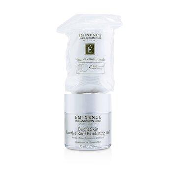 Eminence Bright Skin Licorice Root Peel Exfoliante (Con 35 Algodones Con Textura Dual)  50ml/1.7oz