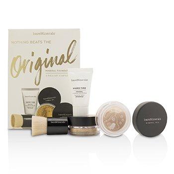 BareMinerals Get Started Mineral Foundation Kit - # 13 Golden Beige  4pcs