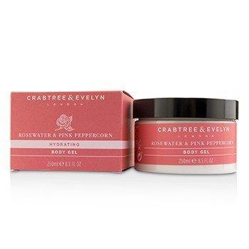 Crabtree & Evelyn Rosewater & Pink Peppercorn Gel Corporal Hidratante  250ml/8.5oz