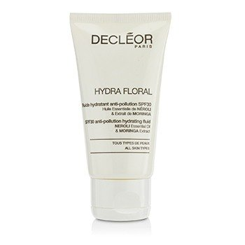 Decleor Hydra Floral Neroli & Moringa Anti-Pollution Hydrating Fluid SPF30 - Salon Product  50ml/1.7oz