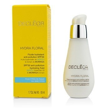 Decleor Hydra Floral Neroli & Moringa Anti-Pollution Hydrating Fluid SPF30  50ml/1.7oz