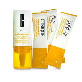 Clinique Fresh Pressed 7-Дневная Система с Чистым Витамином С (1x Ежедневный Бустер 8.5мл + 7x Обновляющая Очищающая Пудра 0.5г)  -