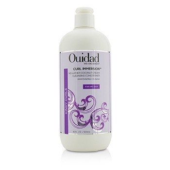 Ouidad Curl Immersion No-Lather Coconut Cream Cleansing Conditioner (Kinky Curls)  500ml/16oz