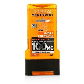 L'Oreal Men Expert Shower Gel - Hydra Energetic (For Body, Face & Hair)  300ml/10.1oz