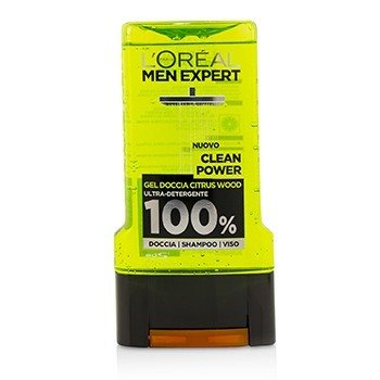 ロレアル Men Expert Shower Gel - Clean Power (For Body, Face & Hair)  300ml/10.1oz