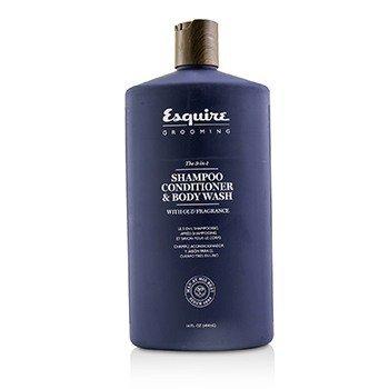 Esquire Grooming El 3 En 1 Champú, Acondicionador & Jabón Corporal  414ml/14oz