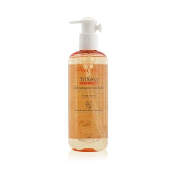 Avene TriXera Nutrition Nutri-Fluid Face & Body Cleanser - For Dry to Very Dry Sensitive Skin  400ml/13.5oz