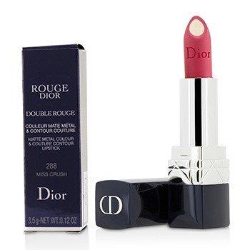 Christian Dior Rouge Dior Double Rouge Matte Metal Colour & Couture Contour Lipstick - # 288 Miss Crush  3.5g/0.12oz