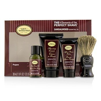 刮胡学问  The 4 Elements of the Perfect Shave Mid-Size Kit - Sandalwood  4pcs