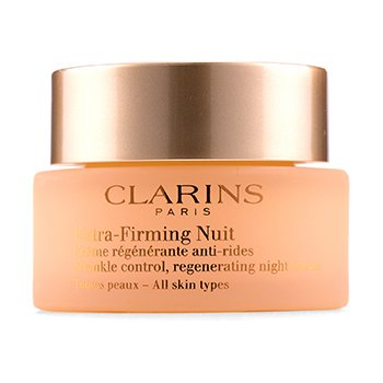 Clarins Extra-Firming Nuit Wrinkle Control, Regenerating Night Cream - All Skin Types  50ml/1.6oz