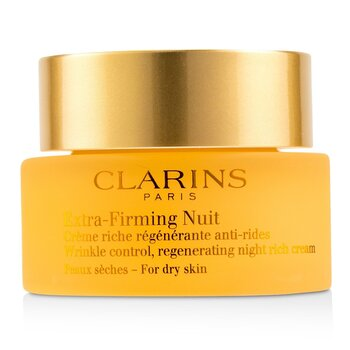 Clarins Extra-Firming Nuit Wrinkle Control, Regenerating Night Rich Cream - For Dry Skin  50ml/1.6oz