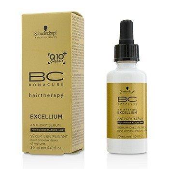 Schwarzkopf BC Excellium Q10+ Omega 3 Anti-Dry Serum (For Coarse Mature Hair)  30ml/1.01oz