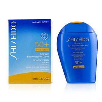 Shiseido Ultimate Sun Protection Loción WetForce Para Rostro & Cuerpo SPF 50+  100ml/3.3oz