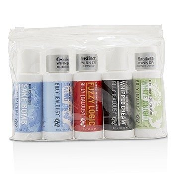 Billy Jealousy Value Travel Kit: Facial Cleanser 60ml + Shave Lather 60ml + Shampoo 60ml + Body Scrub 60ml + Body Moisturizer 60ml  5pcs